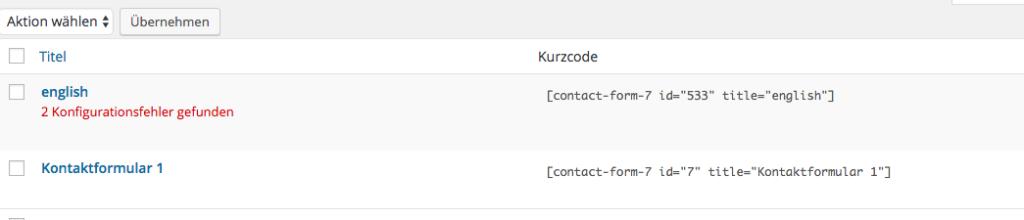 contactform-7-wordpress Fehlermeldung