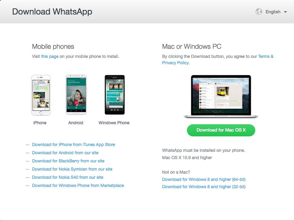Native Whatsapp App für Computer