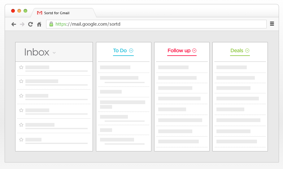 sortd smart skin for gmail