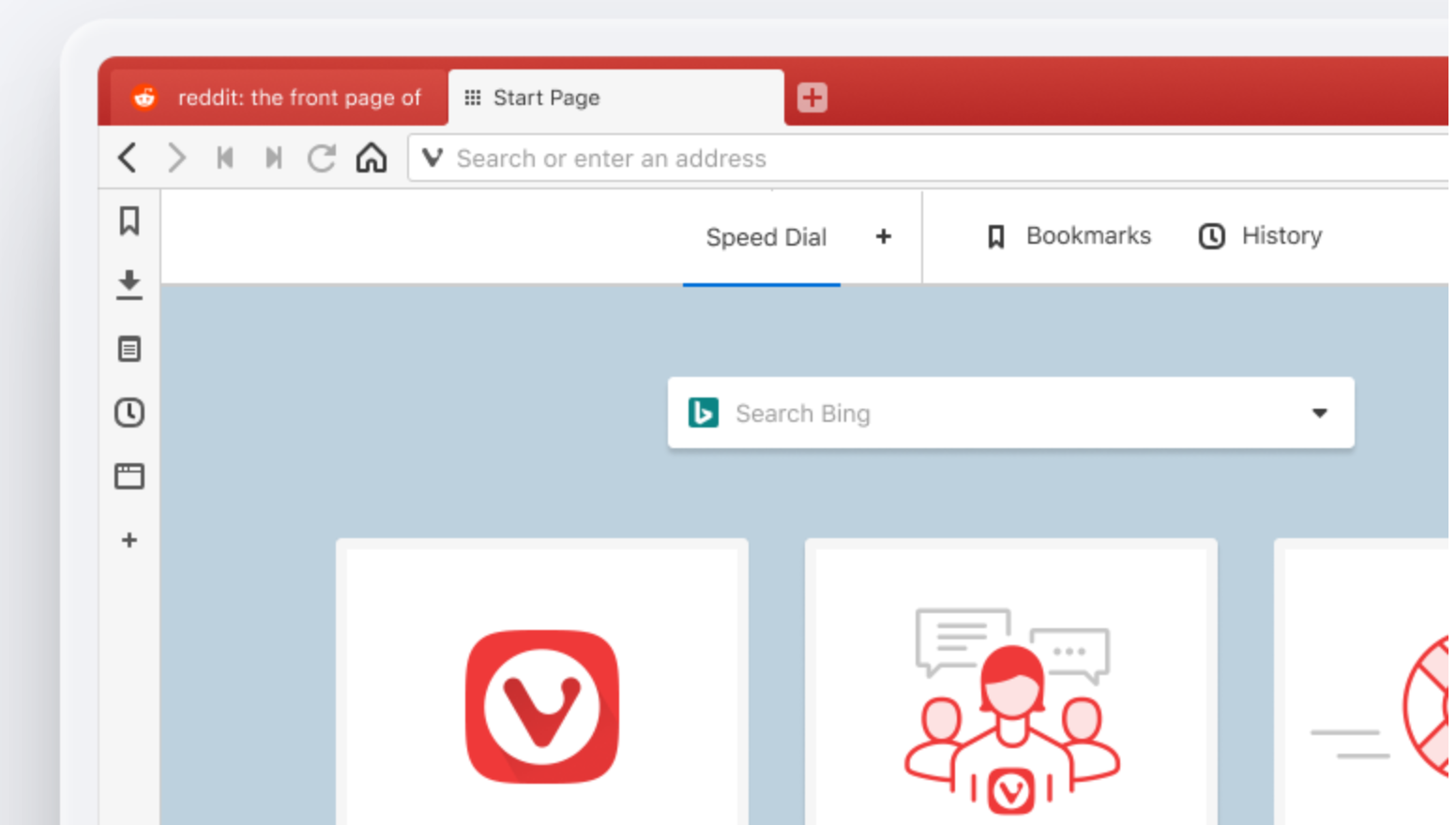 Screenshot Vivaldi Browser