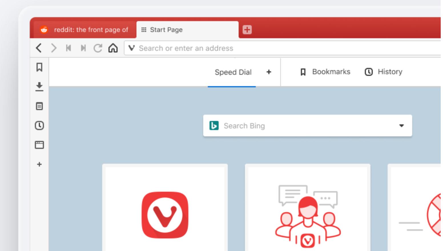 Screenshot Vivaldi Browser
