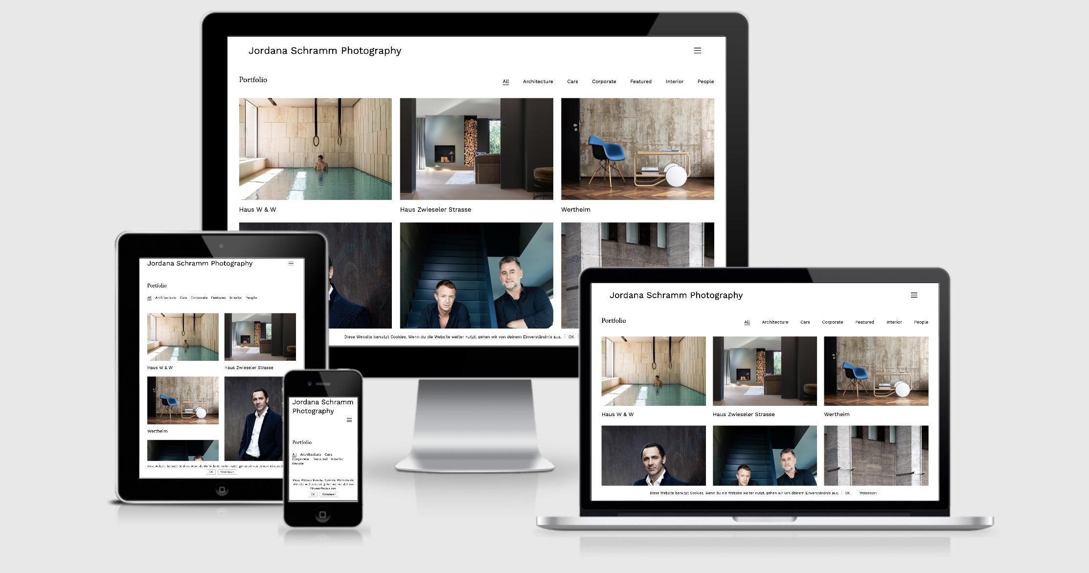 Webseite für Fotografin
