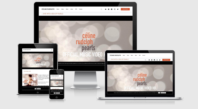 Webseite für Jazzmusikerin