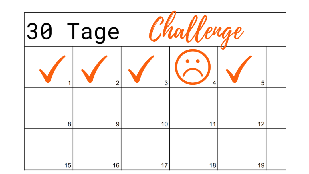 30 Tage Challenge Vorlage