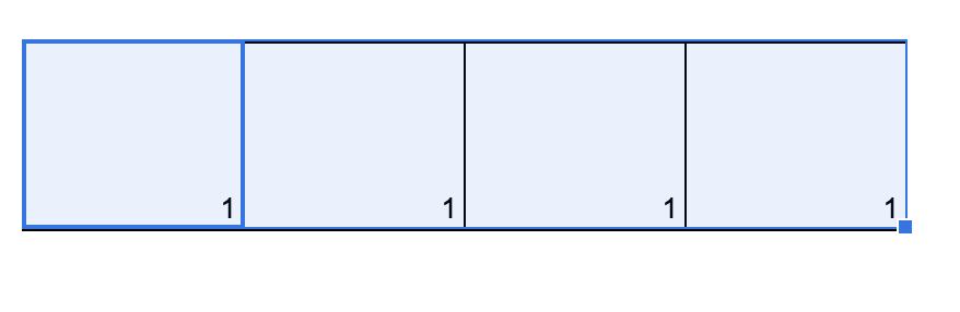 Google Tabelle wiederholend nummerieren